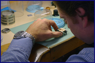 Watch being repaired