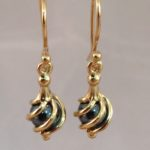 9ct Gold Haematite Twist Earrings